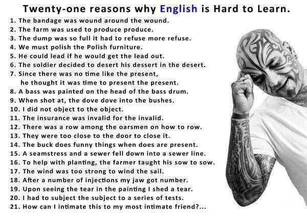 Больше английского контента.