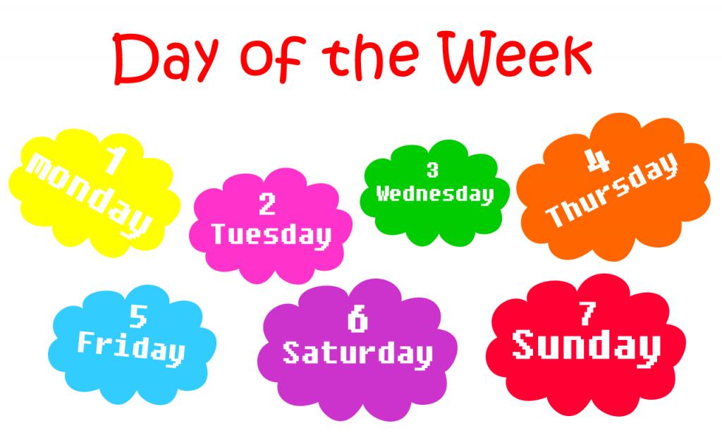 Еще один интересный факт о днях недели на английском