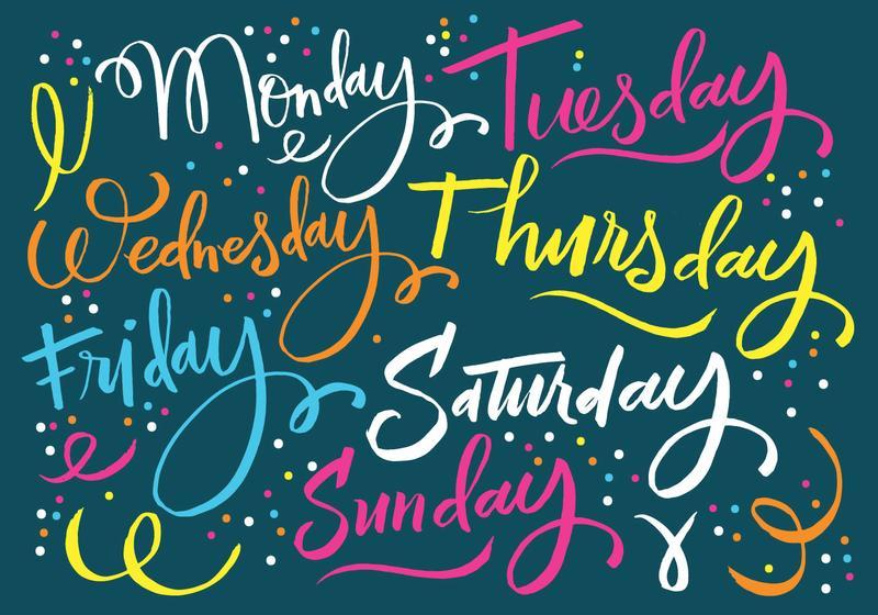 Произношение дней недели на английском - 🇬🇧 Английский Язык