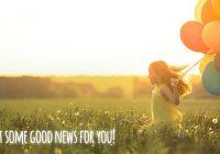 как сообщить хорошие новости на английском языке