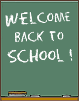 Welcome Back To School Chalkboard