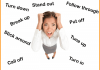 Verb Dive English Phrasal Verbs Woman Frustrated 300x225